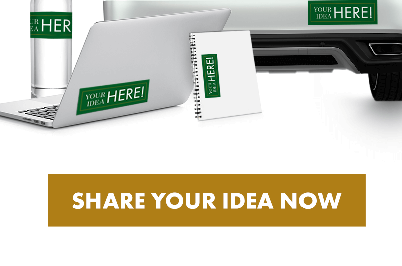 share your idea now