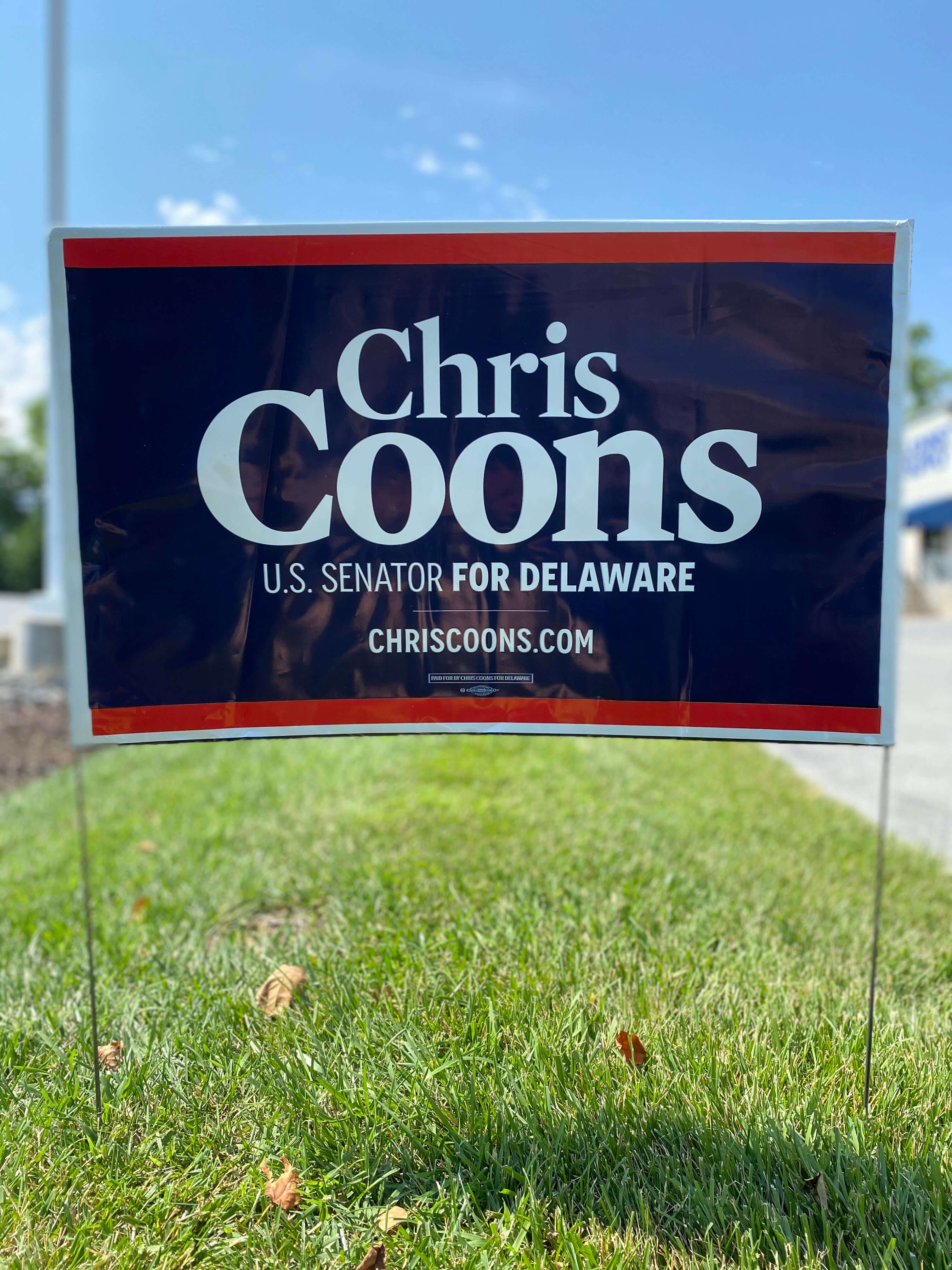 Chris Coons lawn sign